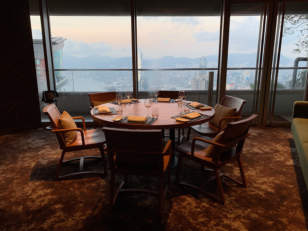 View from 37 Steakhouse and Bar at The Peak in Hong Kong