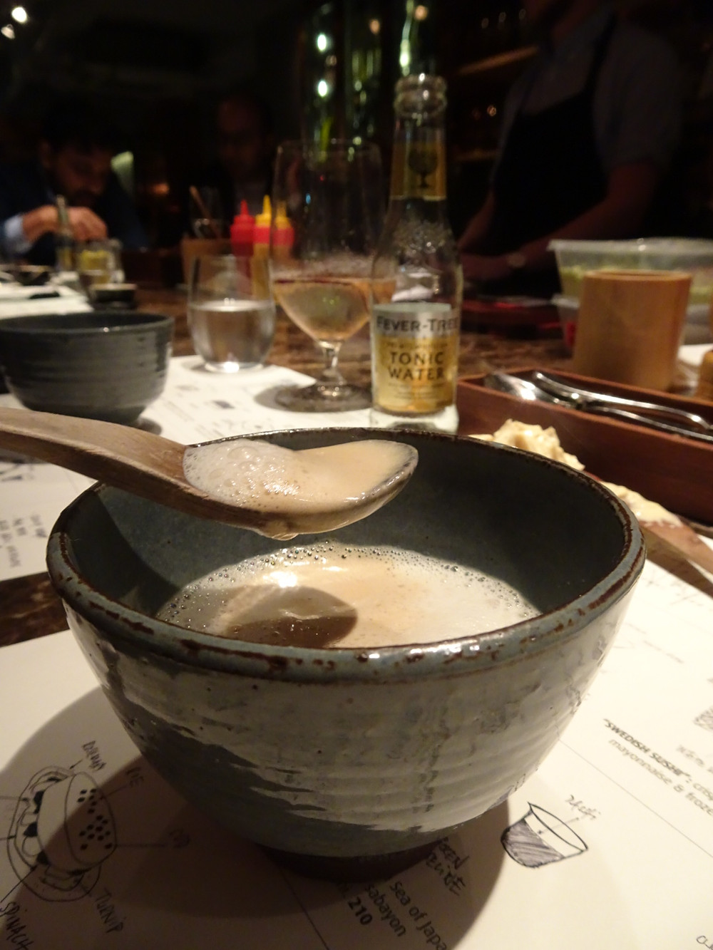 Food at Frantzen's Kitchen restaurant by Bjorn Frantzen in Hong Kong