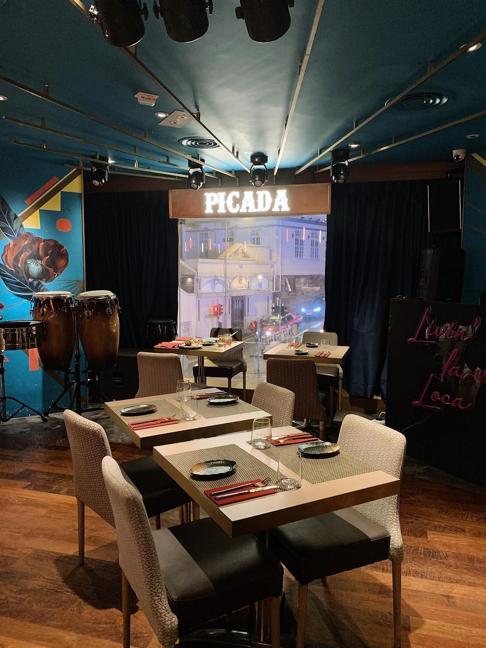 Food at Picada restaurant in Hong Kong