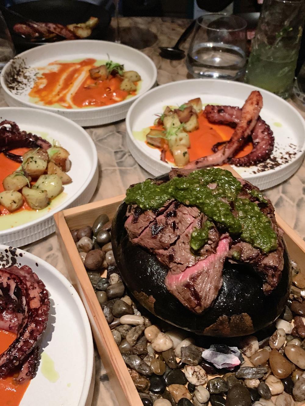 Food at Ichu Peru restaurant in Hong Kong