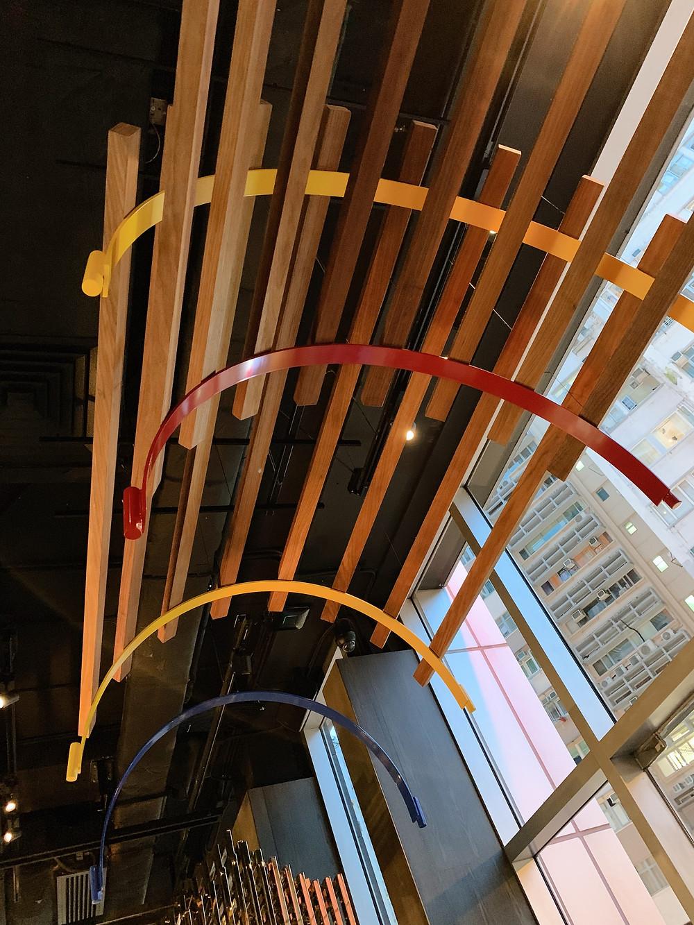 Interiors at Bo Innovation Michelin restaurant in Hong Kong
