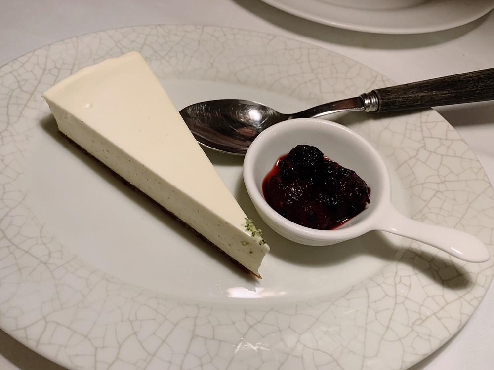 Cheese cake at Interiors at La Petite Maison LPM Restaurant & Bar in Hong Kong