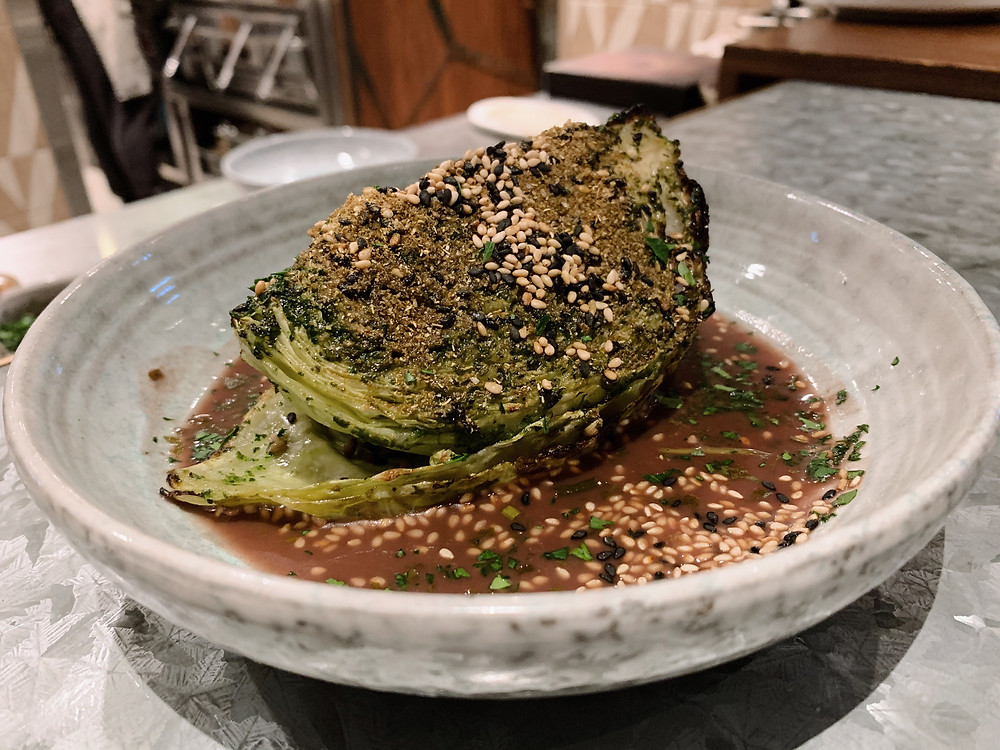 Food at Bedu, Middle Eastern restaurant, in Hong Kong