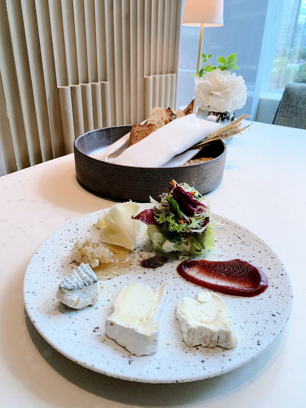 Cheese plate at L'Envol at St Regis Hotel Hong Kong