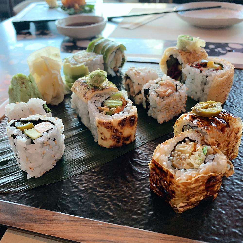 Sushi at Kyoto Joe Restaurant Hong Kong