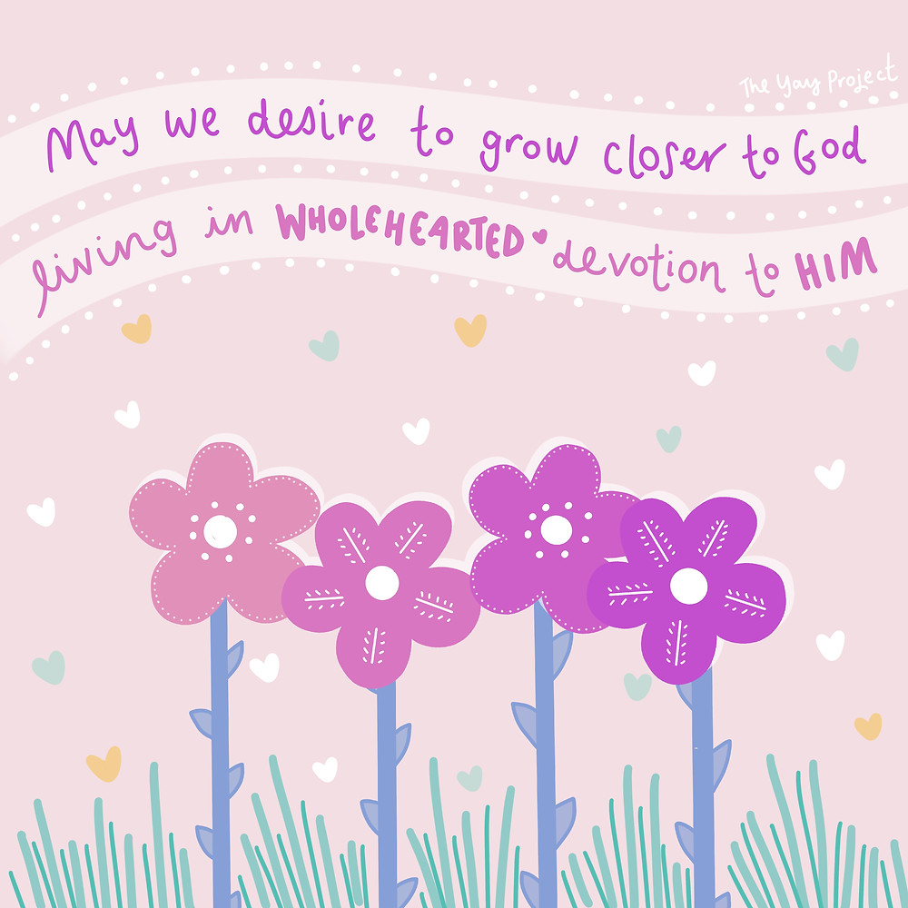 Christian art illustration graphic about growing closer to God by The Yay Project Jenni Lien