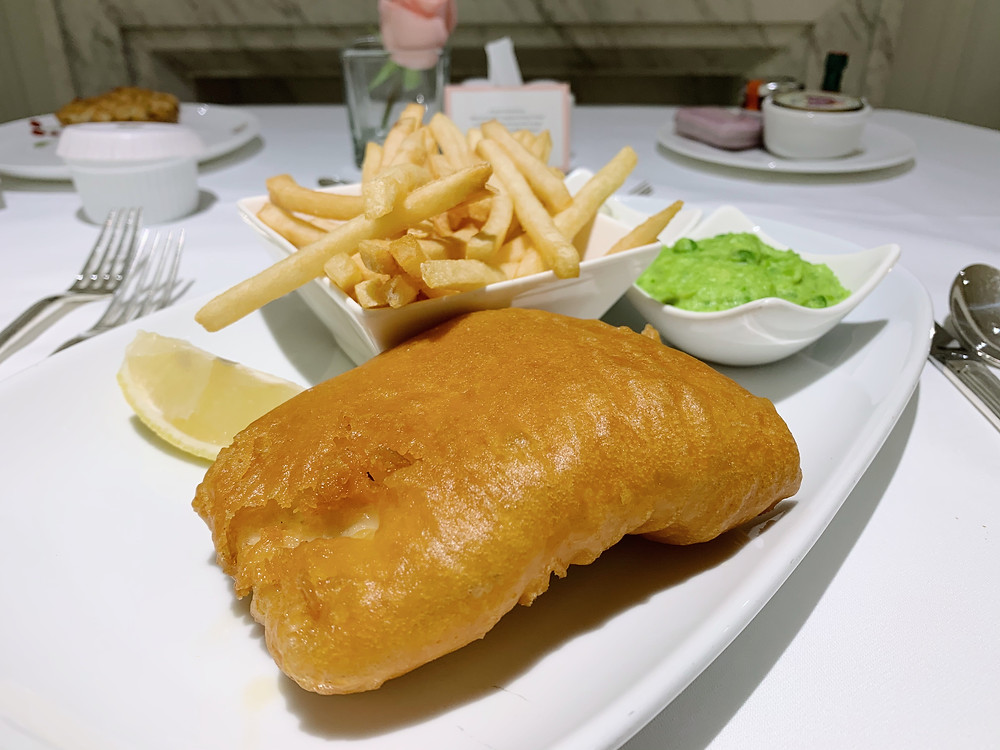 Fish and chips at The Langham Hotel Hong Kong