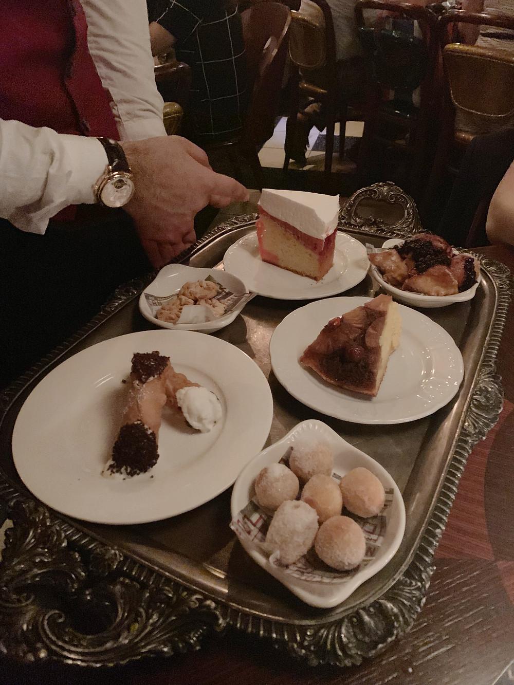 Dessert at Franks Italian restaurant in Hong Kong