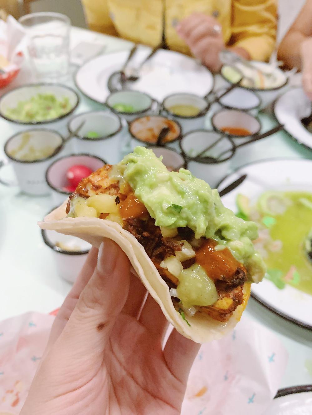 Food at Taqueria Super Macho Mexican restaurant in Hong Kong