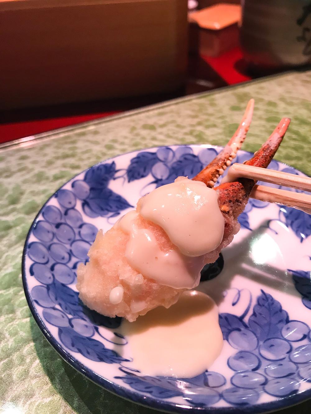 Tempura at Ten Yoshi Japanese restaurant in Causeway Bay Hong Kong