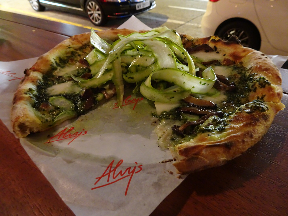 Food at Alvy's restaurant in Kennedy Town Hong Kong