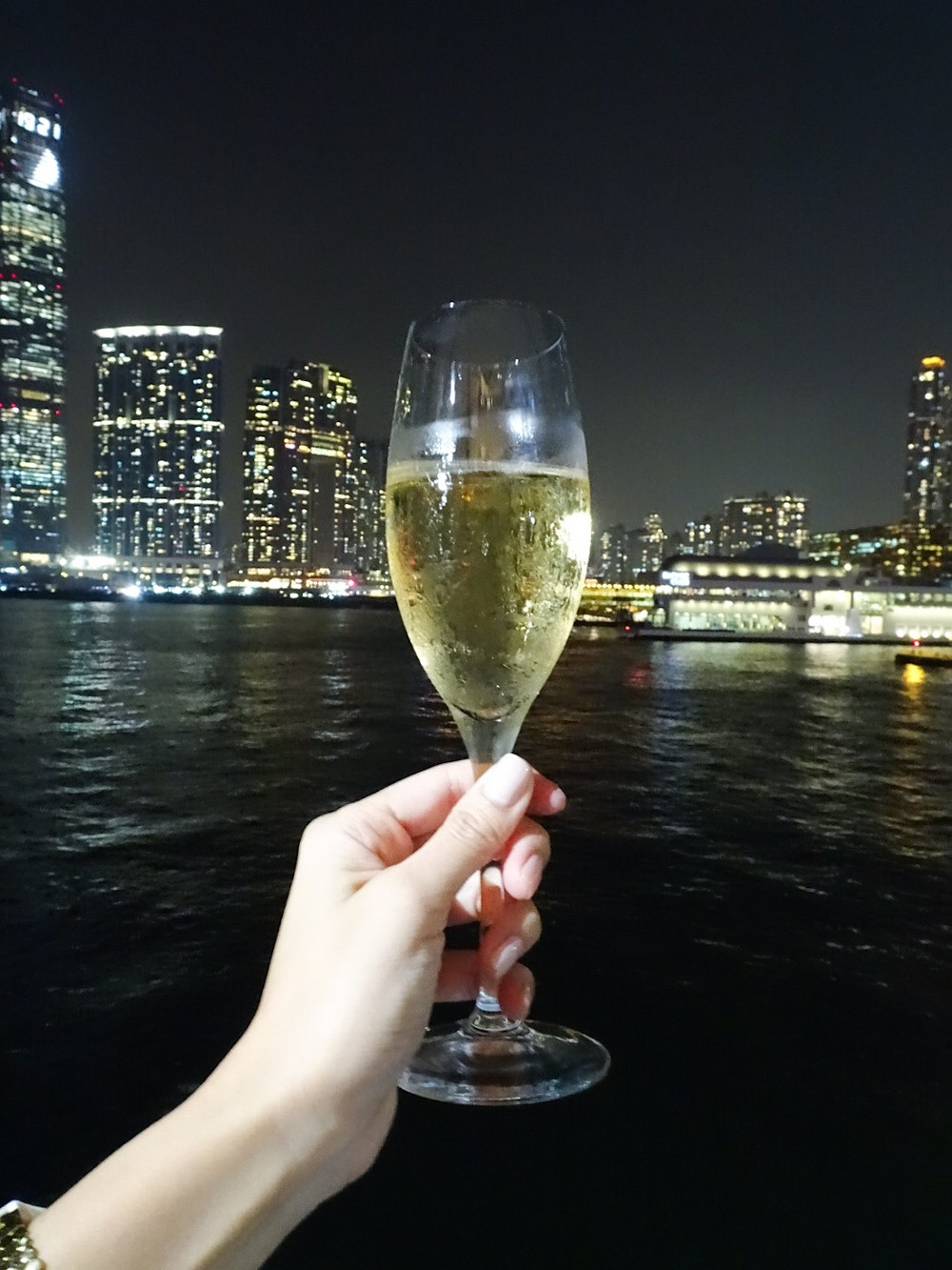 Champagne at Artisan de la Truffe restaurant in Hong Kong