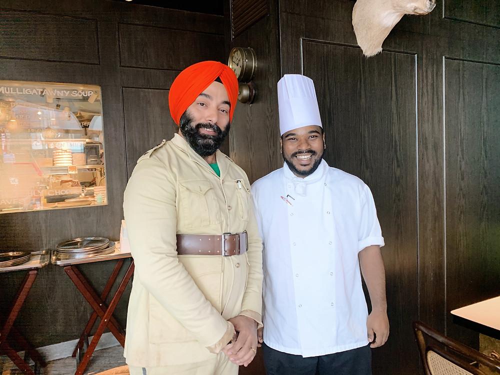 Chef at Rajasthan Rifles restaurant in Hong Kong