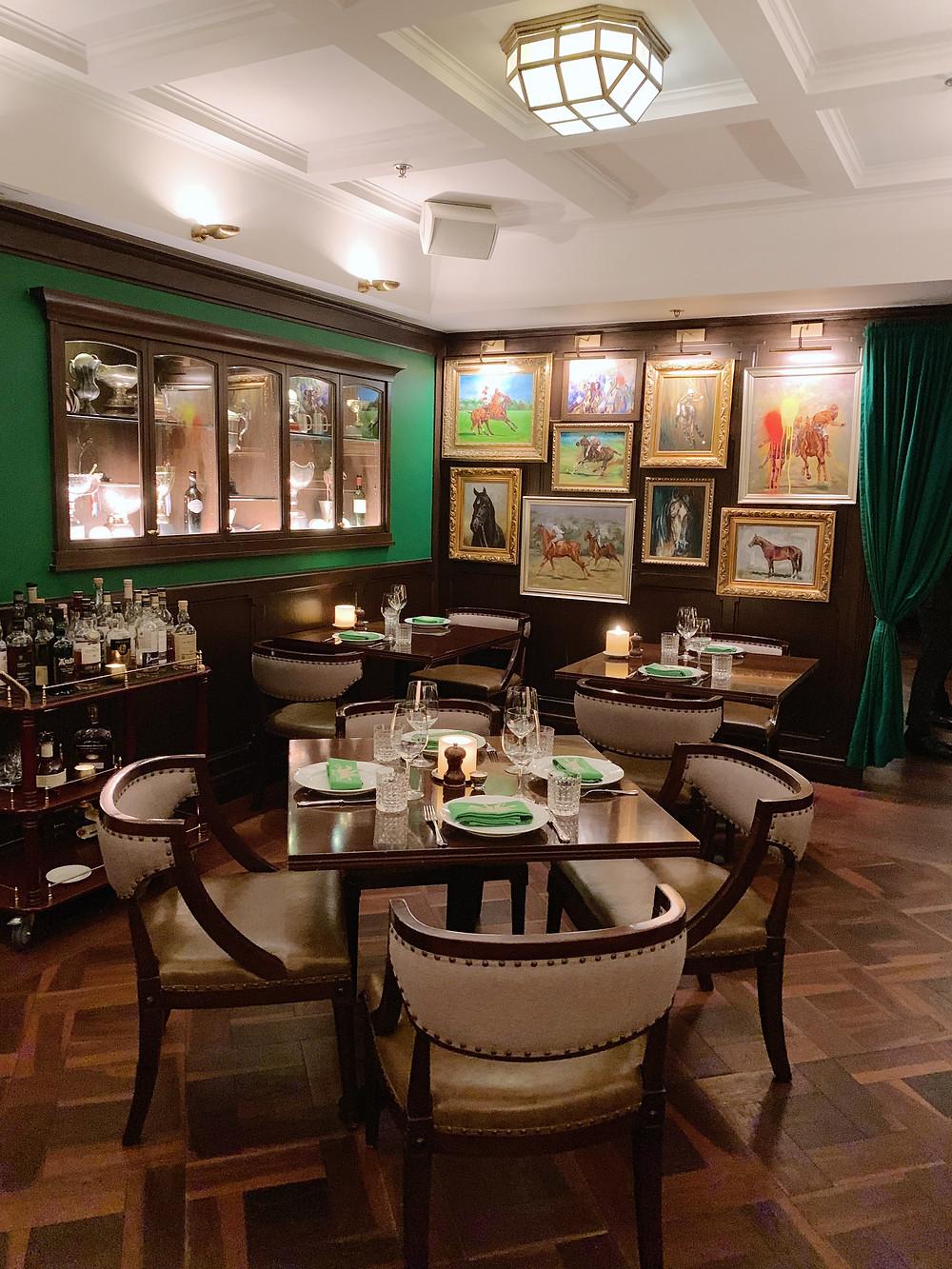 Interiors at Buenos Aires Polo Club in Hong Kong
