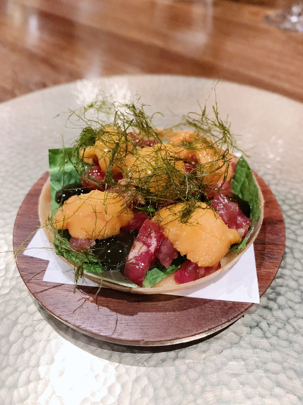 Food at Benu Restaurant by Chef Corey Lee in San Francisco