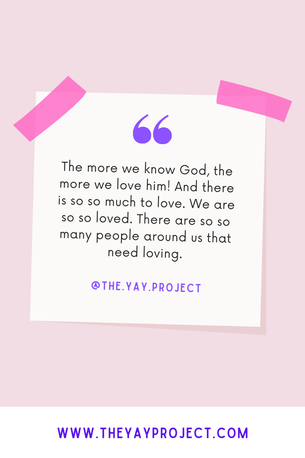 The Yay Project Christian blog