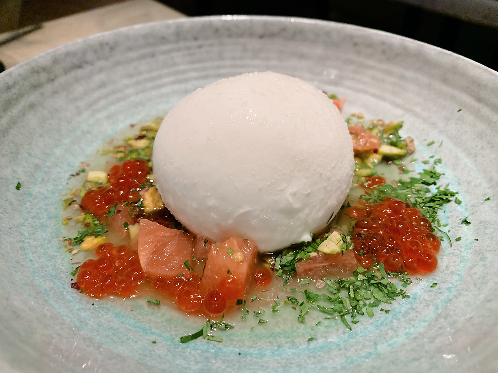 Burrata at Bedu Hong Kong