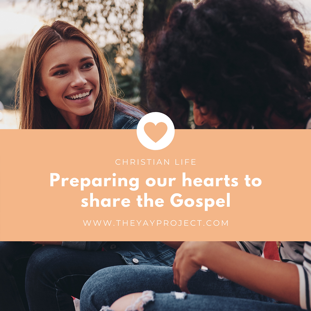 Sharing the gospel evangelism Christian blog by The Yay Project