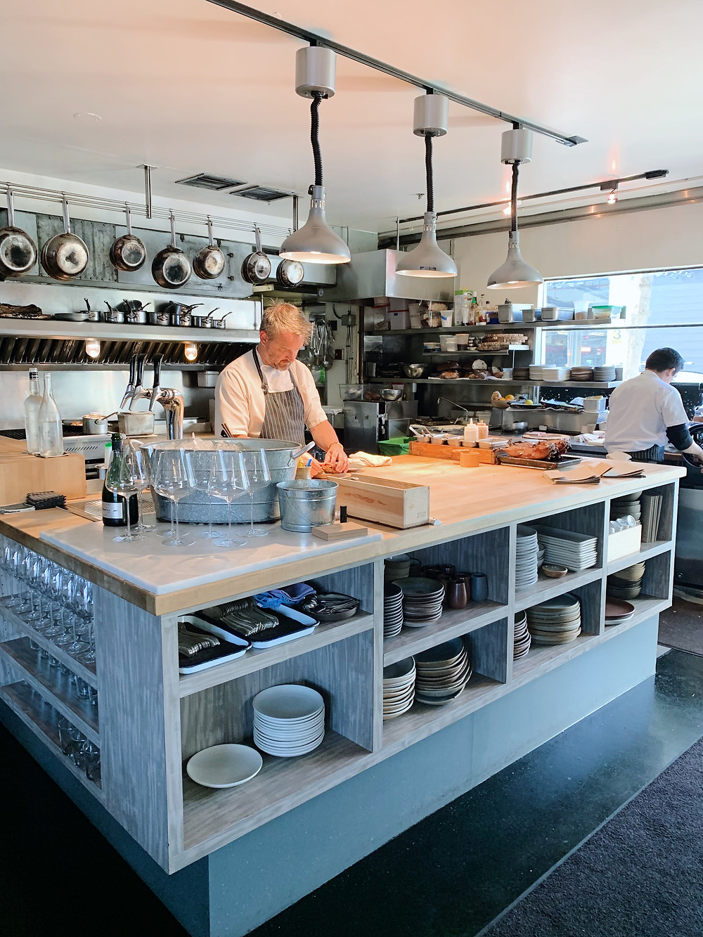 Kitchen at The Morris restaurant in San Francisco, USA