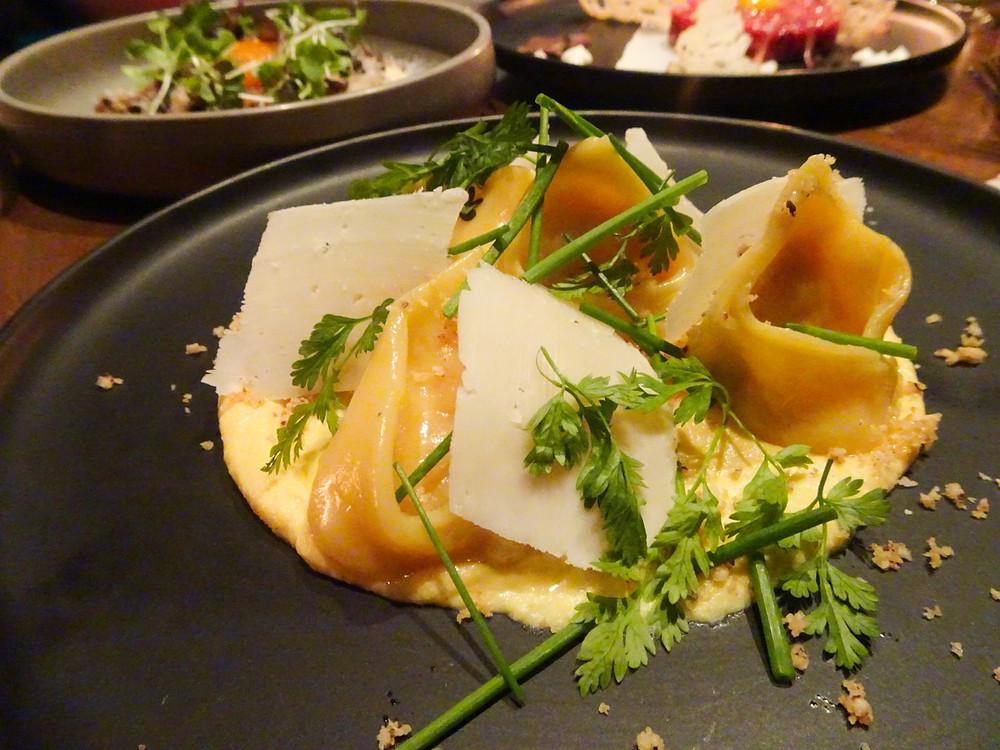 Food at Lily and Bloom restaurant in Hong Kong