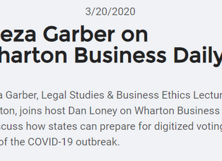 Wharton Business Daily: Digitized Voting in the Age of COVID-19