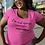 I'm not always sarcastic. Sometimes I'm asleep. Women's hot pink short sleeve scoop neck curvy t-shirt
