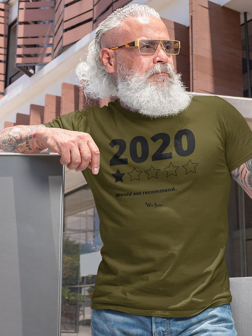2020 (One out of five stars) Would not recommend.  Olive green men's short sleeve crew neck t-shirt