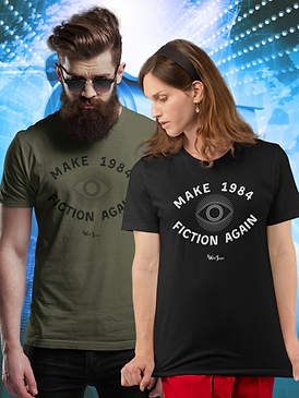 Make 1984 fiction again. Unisex short sl