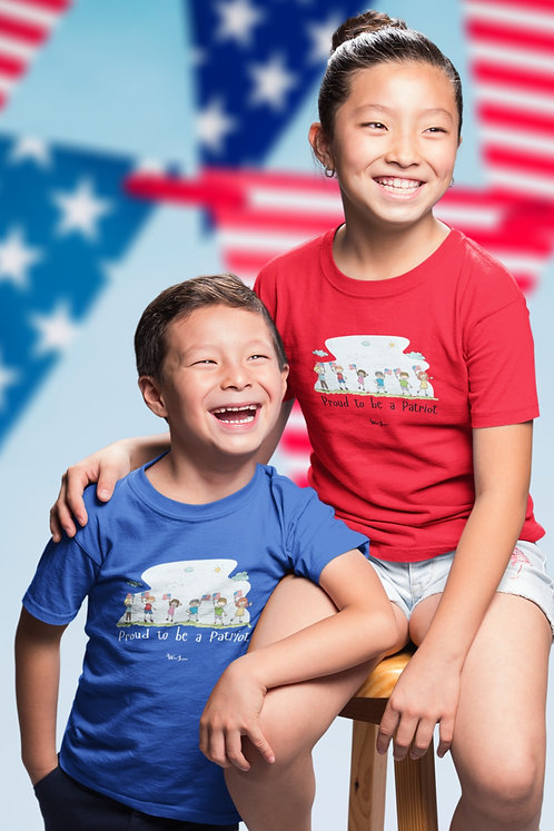 Proud to be a patriot. Liberty. Constitution. Freedom over tyranny. COVID19. Youth patriot. Kids freedom. Youth unisex tee