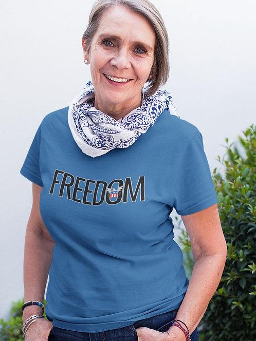 FREEDOM. Royal unisex short sleeve crew neck t-shirt