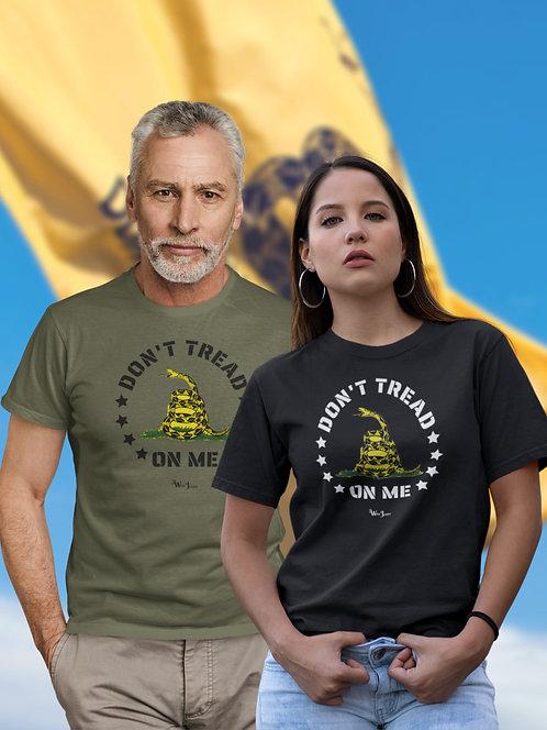 Don't Tread On Me -  unisex short sleeve crew neck t-shirt Patriotic Gadsden Flag