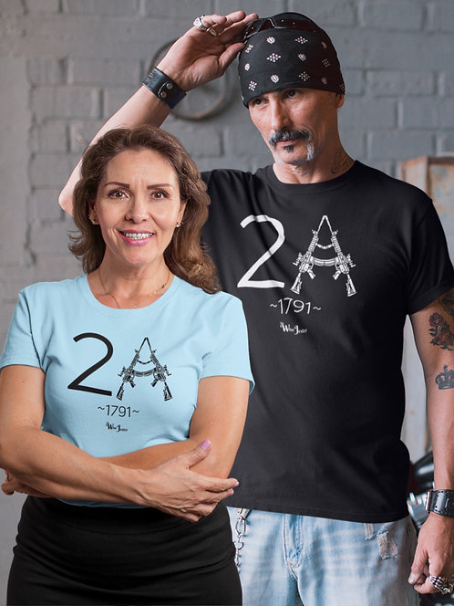 Second Amendment, Gun Rights, 2A  unisex crew neck tee