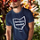 Impeach DeWine (Ohio Governor) Navy blue men's short sleeve crew neck t-shirt