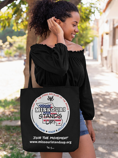 Missouri Stands Up - COVID scam. Scamdemic. Freedom tote bag. Patriot tote bag