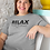 Relax. It's Just Allergies. Woman wearing sport grey unisex short sleeve crew neck t-shirt