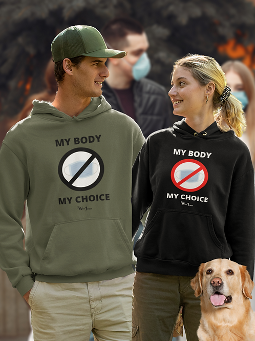My body my choice. No mask shirt, couple wearing hoodie, patriotic shirts, liberty, freedom, women's patriotic shirts, covid