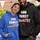 God Family County. Black unisex long sleeve pullover hoodie with kangaroo pouch pockets