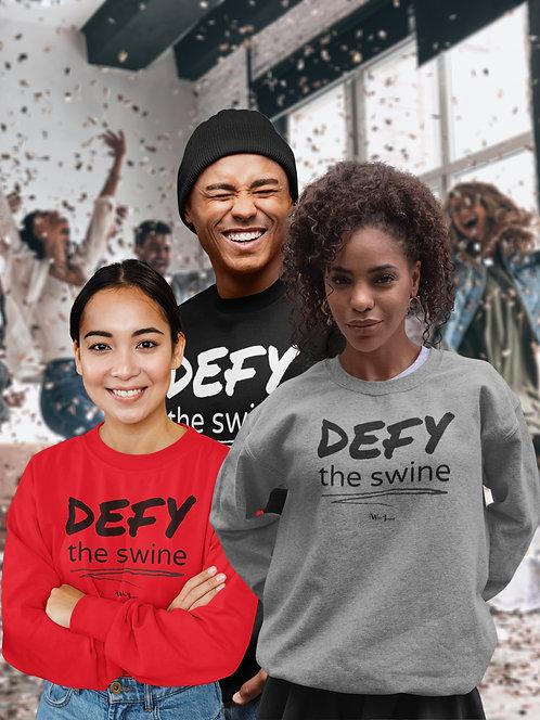 Defy the swine. Anti-Mike DeWine. Political resistance, civil disobedience unisex crew neck sweatshirts