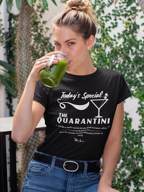 Today's Special ~ The Quarantini. Black unisex short sleeve crew neck t-shirt
