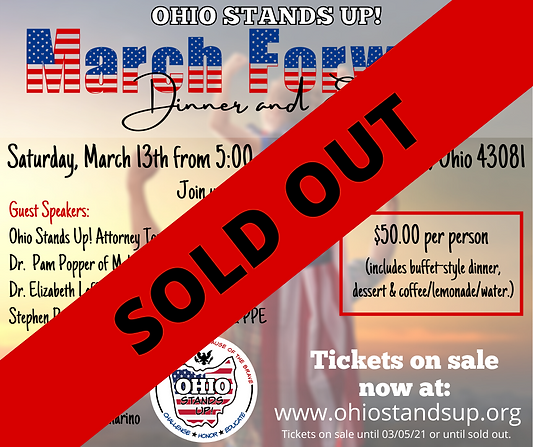 SOLD OUT  March Event Ohio Stands Up! Up