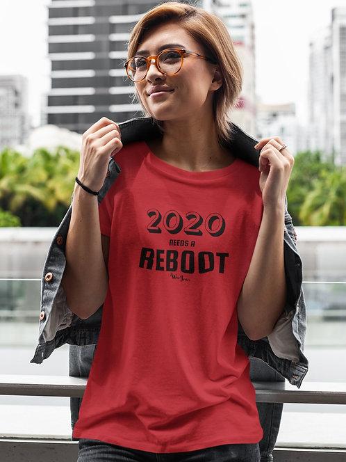 2020 needs a reboot - Red unisex short sleeve crew neck t-shirt