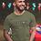 FREEDOM. Olive men's short sleeve crew neck t-shirt