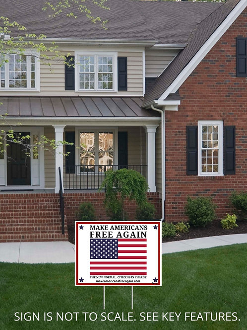 Patriotic yard sign. Political. Freedom. Liberty. Patriotism. Civil disobedience. Gift for patriot. Civil rights. COVID