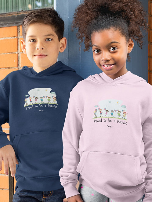 Youth patriot. Kid freedom. Kids lives matter. Constitution. COVID19 fraud. Proud to be a patriot. Youth unisex hoodie