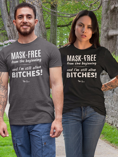 No mask. Mask free. Face masks don't work. Civil disobedience. Anti-mask. Anti-covid. Rise up. Stand up  speak up. Unisex tee