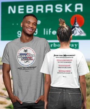 Nebraska Stands Up Logo for Product Use