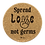 Spread Love Not Germs – Round Cork Coasters – Set of 4