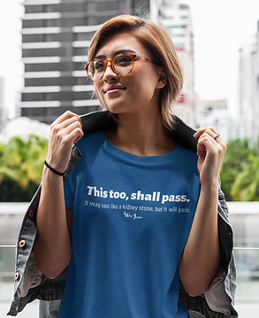 This Too Shall Pass woman in blue unisex