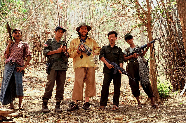 with Burmese student Fighters