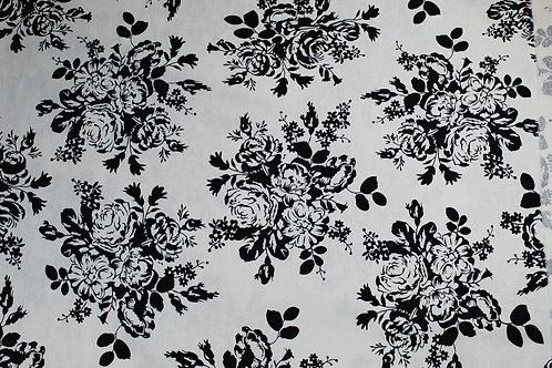 55% Linen, 45% Viscose Mix Light Weight Fabric,  Summer Fabric Striking Floral